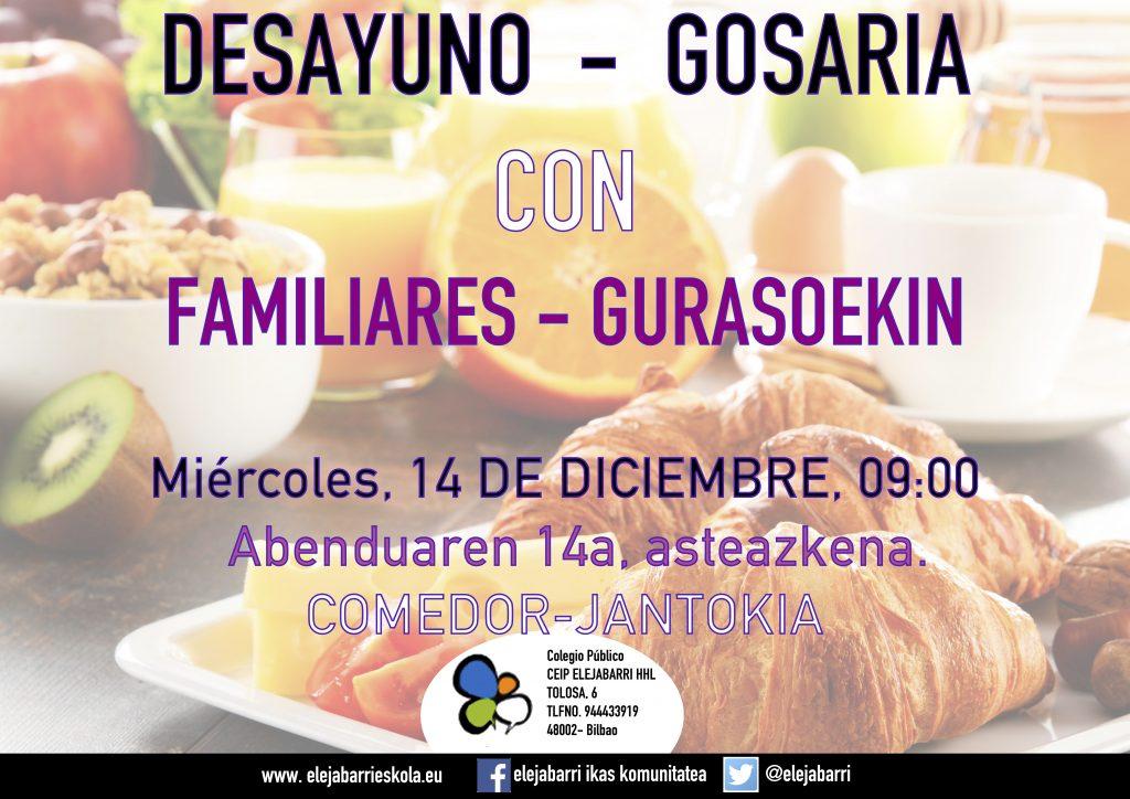 A 13 | FAMILIEKIN GOSARIA - DESAYUNO CON FAMILIARES