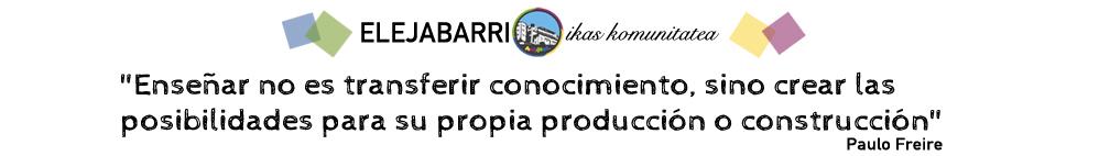 """""""Enseñar no es transferir conocimiento, sino crear las posibilidades para su propia producción o construcción"""" Paulo Freire"""
