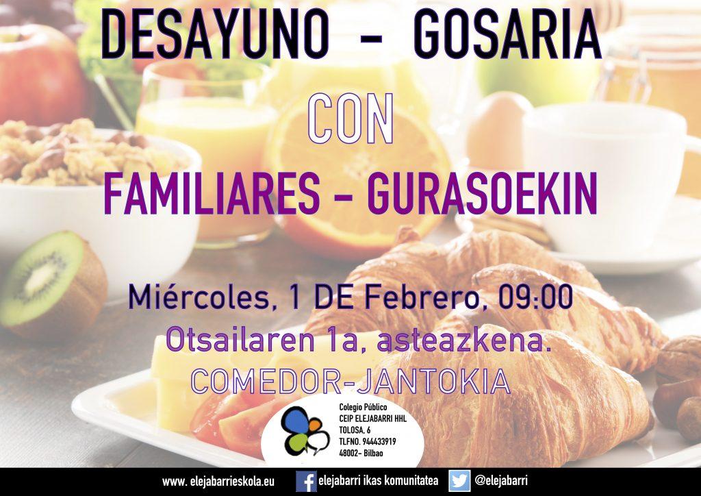OTSAILA-FEBRERO 1 |   FAMILIEKIN GOSARIA - DESAYUNO CON FAMILIARES